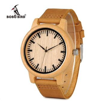 BOBO BIRD Timepieces Bamboo Watch for Men Women Wood Quartz Watch