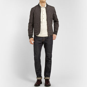Incotex - Montedoro Printed Quilted Bomber Jacket | MR PORTER