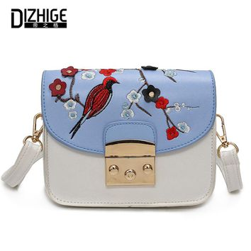 Fashion Floral Crossbody Bags For Women Mini Embroidery Messenger Bag Women Brand Lock Ladies Hand Bags Spring Summer Sac A Main