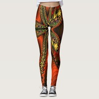 fractal art on leggins leggings
