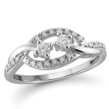 I Love Us™ Two-Stone Ring 1 5ct tw Diamonds 14K White Gold or Ye 883e26276a64