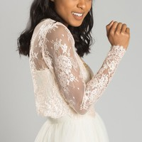 Amelie Blush Lace Top