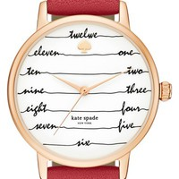 kate spade 'time on wire' leather strap watch, 34mm | Nordstrom