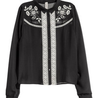 H&M Embroidered Blouse $29.99