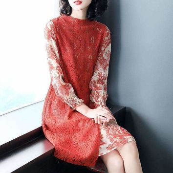 Womens Long-Sleeves Dress
