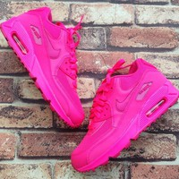 Fashion Online Nike Air Max 90 Women Sport Casual Solid Color Air Cushion Sneakers Running Shoes
