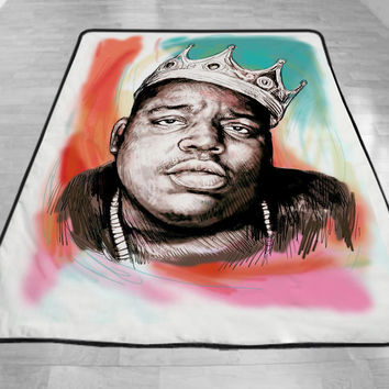 Biggie Smalls art drawing Blanket, Special Blanket, Custom Blanket
