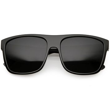 Men's Oversize Flat Top Sports Aviator Sunglasses C692