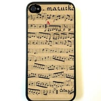 Vintage Music Sheet iPhone 5 Case Fits iPhone 5