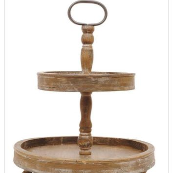 2 Tier Wooden Tray (Round 2) *Preorder 0606* Closes December 16th