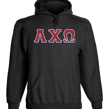 Alpha Chi Omega Twill Letter Hoody