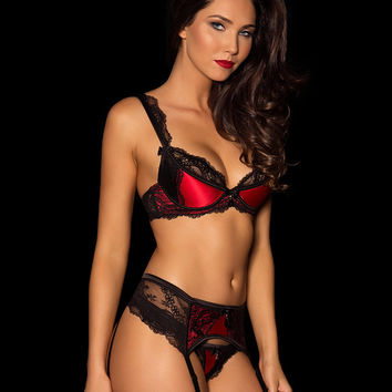 Señorita Red Suspender Set – Honey Birdette