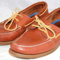SPERRY Top sider Oxford Boat Brown Mens Shoes Size 13 M