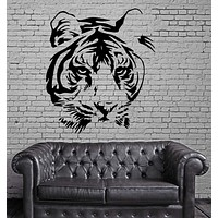 TIGER HEAD ANIMAL DECOR Wall MURAL Vinyl Art Sticker Unique Gift M275