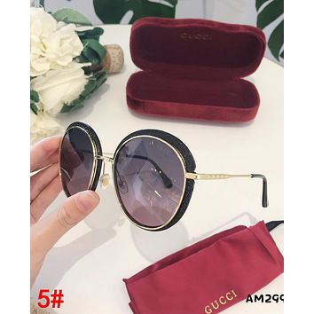 GUCCI Newest Fashion Woman Chic Summer Sun Shades Eyeglasses Glasses Sunglasses 5#