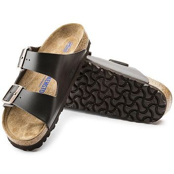 Best Online Sale Birkenstock Arizona Soft Footbed Leather Brown 0551031/0551033 Sandal