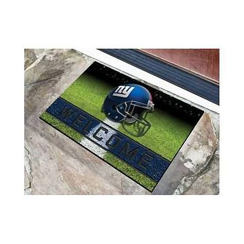 New York Giants 3D Crumb Rubber 18x30 Welcome Door Mat