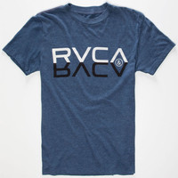 Rvca Reflections Mens T-Shirt Heather Navy  In Sizes