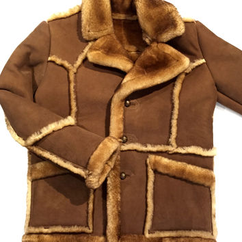 "Jakewood ""Fluff"" Shearling Jacket w/ Buttons"
