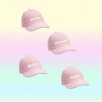 kawaii pink tumblr cap from Kokopie