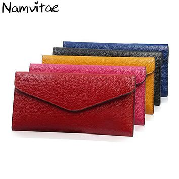 Women Wallets PU Leather Bag Long Thin Purse Cow Leather Cards Holder Clutch Female Magic Wallet New Ladies Standard Wallet
