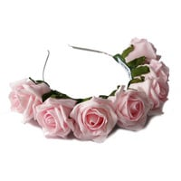 Crown and Glory Hair Accessories — Whole Lotta Rosie Headband - Blush Pink