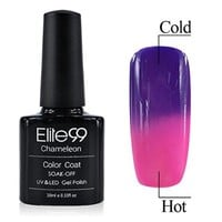 Chameleon Temperature Changing Colour Nail Lacquers Soak Off UV LED Gel Polish Purple - Pink