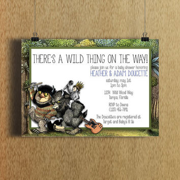 Where The Wild Things Are Baby Shower Invitations gangcraftnet