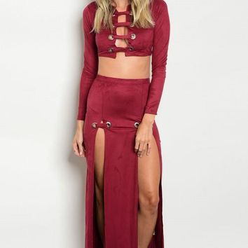 Sultry Suede 2 Piece Set (3 Colors)