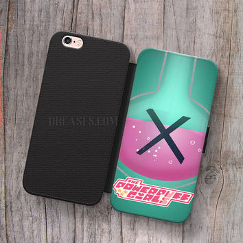 Wallet Leather Case for iPhone 4s 5s 5C SE 6S Plus Case, Samsung S3 S4 S5 S6 S7 Edge Note 3 4 5 Powerpuff Girls Chemical X Cases
