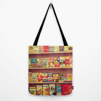 Retro Tote Bag, Bohemian, Vintage Food Packaging, Grocery Bag, Retro Photography, Colorful, Colors, Hipster Bag, Boho Bag, Dutch Design