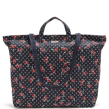Cherry-print denim tote bag | Miu Miu | MATCHESFASHION.COM US