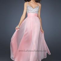 La Femme 16802 Cotton Candy Pink Evening Gown