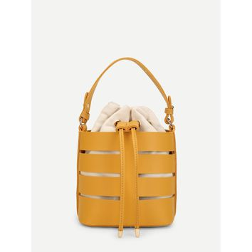 Bucket Bag With Drawstring Inner Pouch