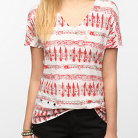 Urban Outfitters - Tripp NYC Spike Printed Holey Tee
