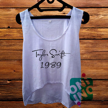 Taylor Swift Logo Crop Tank Women's Cropped Tank Top