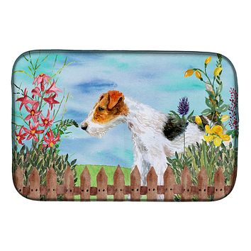 Fox Terrier Spring Dish Drying Mat CK1212DDM