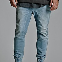 Bullhead Denim Co. Denim Slouched Skinny Jogger Pants - Mens Jeans - Blue