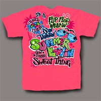 Sweet Thing Funny Summer Lovin Neon Pink Girlie Bright T-Shirt