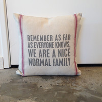 Remember... Pillow
