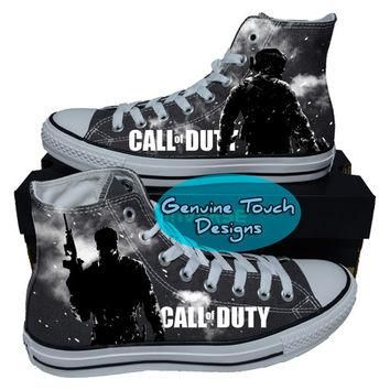 Custom Converse, Call of Duty, Game, Fanart shoes, Custom chucks, painted shoes, perso