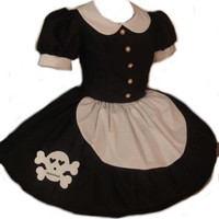 Gothic Rag Doll Dress Lolita with Cute Skull Black and White Womens Small Medium Large XLarge 2X 3X or 4X