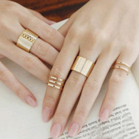 3 Piece Ring Set, Multiple Colors
