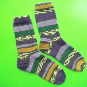 SALE Men's socks. Winter socks. Wool socks. House socks. Casual socks. Unique socks.