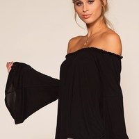 Kai Off The Shoulder Top - Black