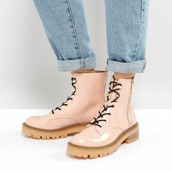 Stradivarius Lace Up Ankle Boots at asos.com