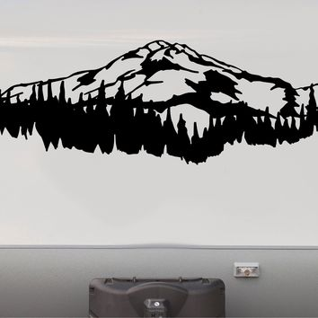 Mountains RV Camper Motorhome Decal Scene Trailer Stickers Replacement Graphics