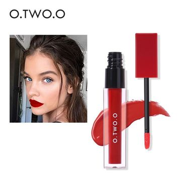 Sexy Waterproof Pigment Colors Velvet Matte Red Long Lasting Lipstick