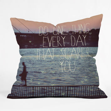 Happee Monkee Do One Thing Every Day Throw Pillow