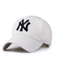 MLB Hat White NY Embroidered Unisex Adjustable Outdoor Baseball Cap Hat